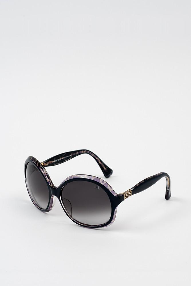 大边框圆形太阳眼镜